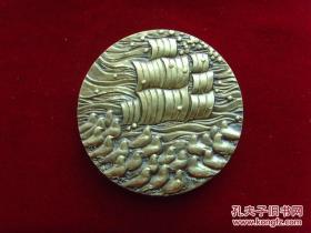 《上海大铜章专业委员会成立纪念章》2002年上海造币厂发行