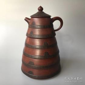 收来的三层紫砂壶套壶 名家手工壶 塔壶摆件 茶艺精品