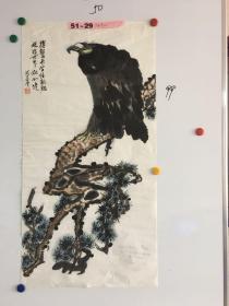 浙江画家周富贵精美动物画一幅50*99CM 鹰