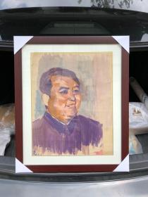华国锋主席像 包手绘 带框发货