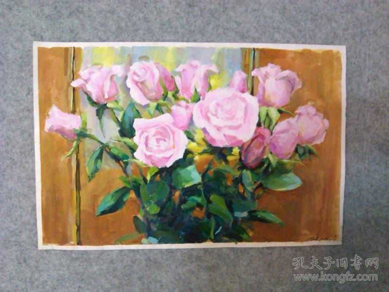 刘文英西画水彩画 玫瑰花