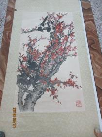 挂画:印刷梅鹊(立轴)