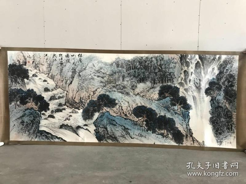 关山月手绘画作品真迹,现代著名画家 尺寸:3.75/1.图片