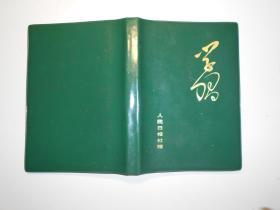 天津人民美术出版社副总编张安吾70年代速写本一册(32开,绘画使用20多页,部分为铅笔人物写生,有些已模糊;用钢笔记录天安门广场怀念周总理诗歌 12页。扉页有藏书章)