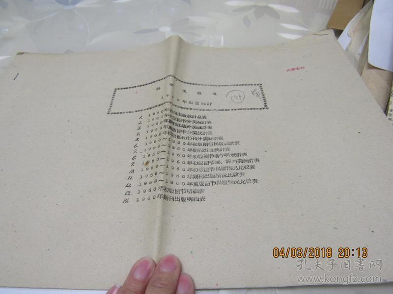 科学出版社1960年出版统计 1本  914