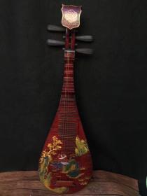 古代乐器琵琶,尺寸90x27x9厘米