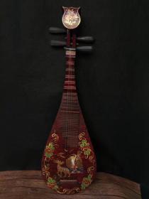 古代乐器琵琶,古玩 老物件 尺寸90x27x9厘米