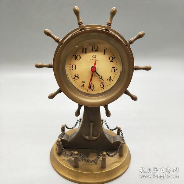 大船舵钟表,正常使用,重量1.25公斤,代理可以转图加价,运费自理。(长期有货)