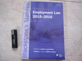 Blackstones Statutes on Employment Law 2015-2016 原版