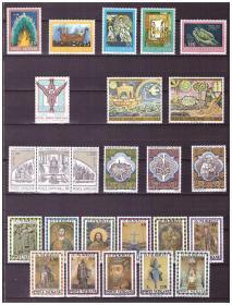 『梵蒂冈邮票』1974年邮票 6套 25全