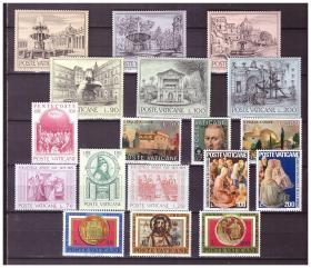 『梵蒂冈邮票』1975年邮票 6套 18全