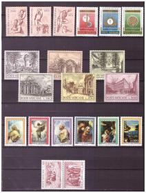 『梵蒂冈邮票』1976年邮票 5套 20全