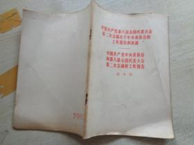 中国共产党第八届全国代表大会第二次会议关于中央委员会的工作报告的决议