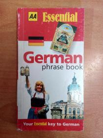 German Phrase Book (AA Essential Phrase Book)  德语短语手册 (英文、德文对照本 36开本)