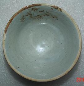 宋代  益阳   羊舞岭窑   青白釉茶碗   有碰裂痕已上胶    [高5.2cm径10cm]
