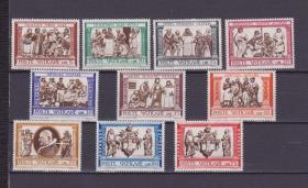 『梵蒂冈邮票』1960年  宗教名画 慈悲 10全新