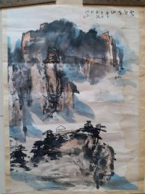 """中国美术家协会会员,戏曲学院中国画教授周志龙""""云起黄山""""山水画"""