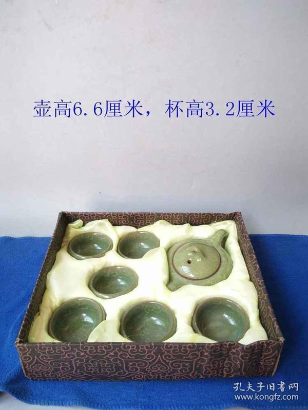 少见的汝窑冰裂纹茶壶