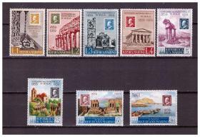 『圣马力诺邮票』1959年 西西里邮票发行100周年 8全新