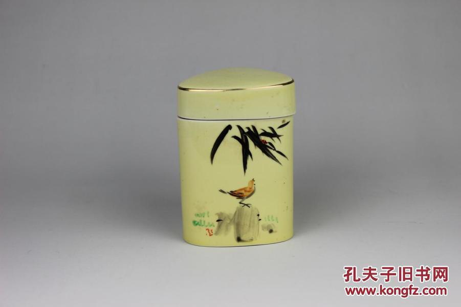 80年代手绘茶叶罐