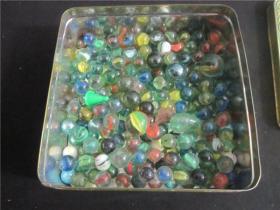 80后童年怀旧回忆~老玻璃弹珠玻璃球一组大中小花色不解释原汁原味送老盒2
