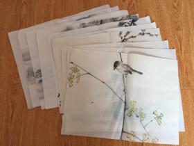 民国日本佚名画稿10张合售,彩绘