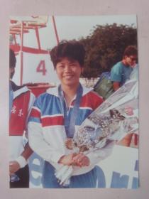 冠军女运动彩色照片