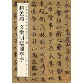正版送书签dz~中华经典碑帖彩色放大本:赵孟頫 文征明临兰亭序 9
