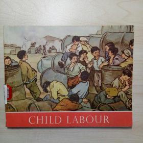 连环画 童工 CHILD LABOUR 1954年英文版