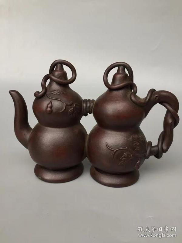福禄葫芦紫砂壶,细节如图 有款识品如图一眼货