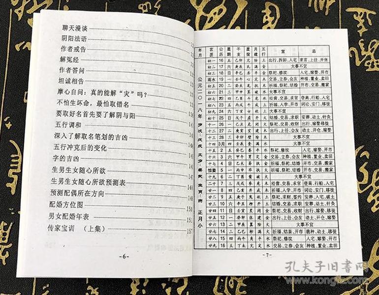 2018年狗年运程生肖书 米虫 百事通 百事顺 老黄历皇历择吉通书上下册