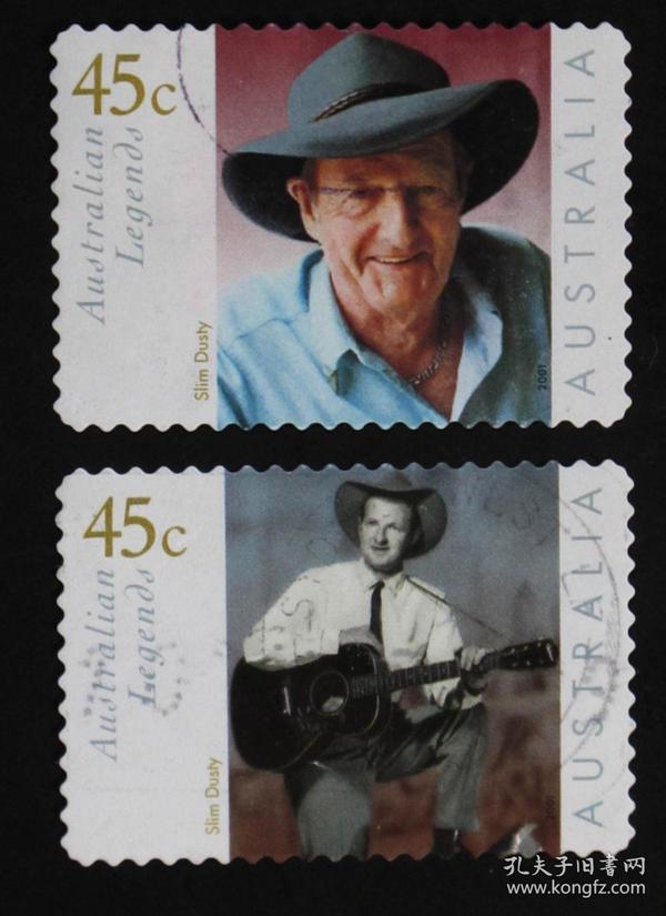 澳大利亚邮票-----澳大利亚传奇人物(信销票)