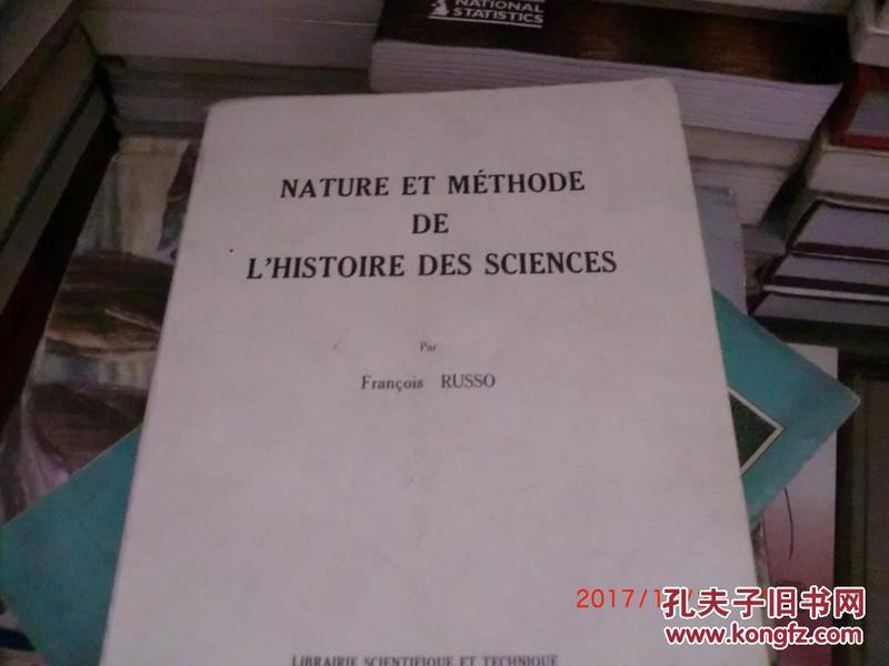 nature  et methode de lhistoire des sciences