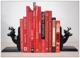 英文外文真书软装饰品 红色热烈风  样板房陈列摆设 美式风格摆件
