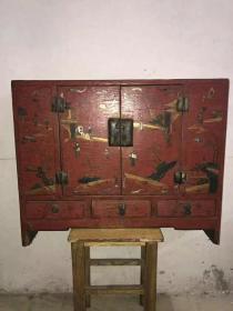 老漆器漆器柜子,长77cm,宽63cm,代理可以转图加价运费自理