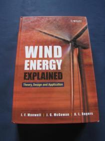 Wind Energy Explained: Theory, Design and Application (风能利用:理论、设计和应用)  精装本  2003年英国印刷   原版英语书