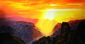 天来堂◆张嘉应油画原创超写实精品★夕阳西下