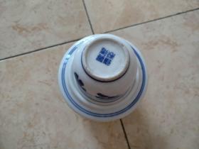 老民俗使用品:青花瓷温酒壶一套