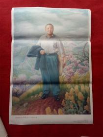 怀旧收藏2开年画《敬爱的小平同志 春回大地邓小平》雷文彬1994