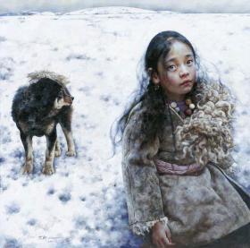 艾轩 小女孩和狗 03