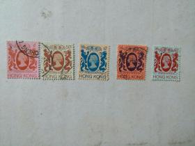 英国女王邮票   5枚