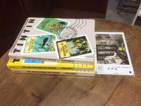3本合售:英文原版 the  adventures of Tintin 丁丁历险记 卷 1、3、4 【存于溪木素年书店】