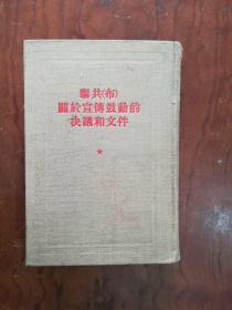 【联共(布)关于宣传鼓动的决议和文件 布面精装  1版1