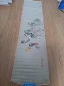 日本画《蘑菇图》