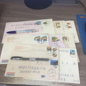 台湾邮戳 从台湾寄往长沙 11张