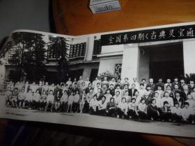 全囯第四届什么学习班大合影相片--1987年合影巨长相片1张