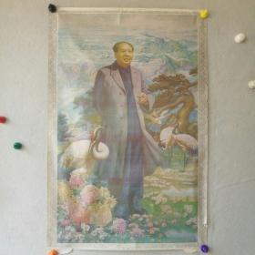 一开中堂 《德隆千载》  (人物:毛泽东) 成励志作  1993年      河南美术出版社  [柜13--3-17]