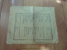 古籍版本残页    三白宝海(太极无着序)  边双栏页10行   经前人精心修复粘贴在另一张纸上  有残缺