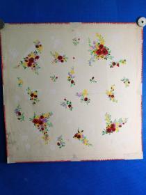 七十年代手绢玫瑰图案原画稿