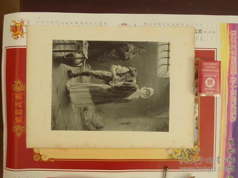一八八几年单张单面铜版画--女犯人